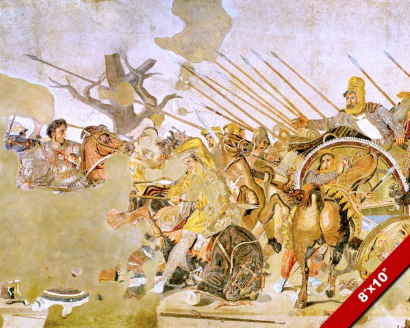 Battle of issus mosaic alexander the great painting war for Battle of issus painting