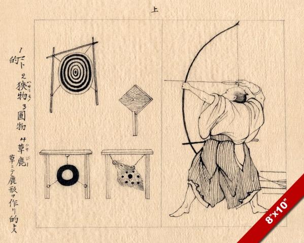 BOWMAN ARCHER ARTIST STUDY SHOOTING ARROW ARCHERY PAINTING ART REAL CANVAS PRINT
