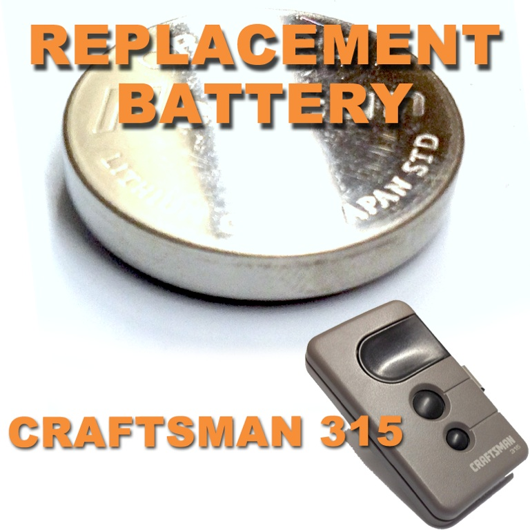 Craftsman garage door opener remote battery replacement