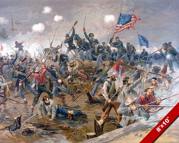 THE BATTLE OF SPOTSYLVANIA AMERICAN CIVIL WAR OIL PAINTING ...